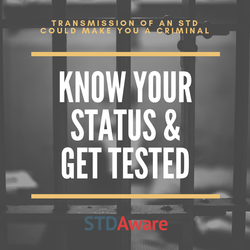 Transmission of an STD could make you a criminal; Know your status and get tested
